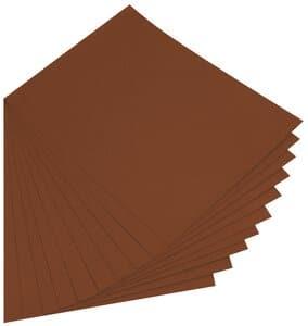 Gekleurd karton (50 x 70 cm) 10 vel chocoladebruin