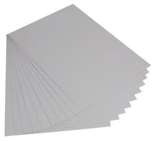 Gekleurd karton (50 x 70 cm) zilver, 10 vel