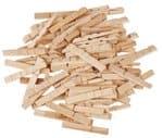 Halve houten wasknijpers (74 x 10 mm) 100 stuks