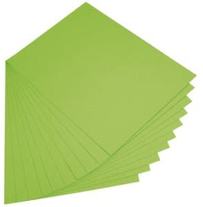 Gekleurd papier, 130g, 50 x 70 cm, 10 vel meigroen