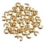 Verdeck für Quetschperlen, 50 Stück goldfar. (5mm)