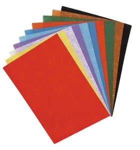 Strozijde papier (23 x 32 cm) kleurrijk, 10 vel