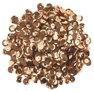 Pailletten/lovertjes (6 mm) 1200 stuks, goudkleur