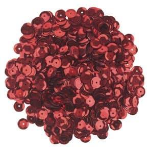 Sequins ronds , Diam. 6 mm, 12 g (env. ..., rouge