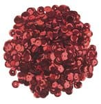 Sequins ronds , Diam. 6 mm, 12 g (env. ..., rouge