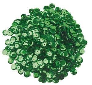 Pailletten, 1200 Stück grün (6 mm)
