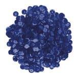 Pailletten/lovertjes (6 mm) 1200 stuks, blauw