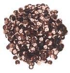 Lentejuelas ø 6 mm, aprox. 1200 ud. color marrón