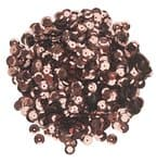 Pailletten/lovertjes (6 mm) 1200 stuks, bruin