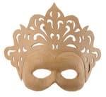 Masque en carton -Majesté-, Forme bom...,