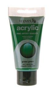 Acrylfarbe Reeves,  75 ml grasgrün