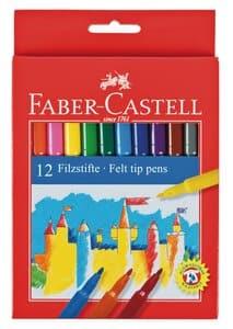 Faber Castell viltstiften, 12 stuks