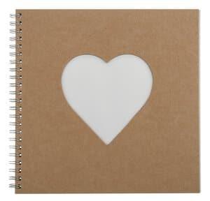 Paper-Art Album Quadrat Herzausschnitt (200 mm)