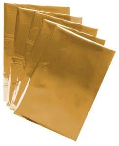 Effektfolie, 5 Blatt gold (DIN A4)
