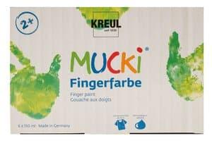Mucki Fingerfarben, 6 x 150 ml