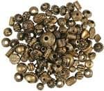 Mix de perlas de plástico 40 g., oro viejo