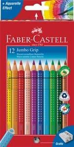 Farbstifte Jumbo Grip dreikant, 12er Set + Spitzer