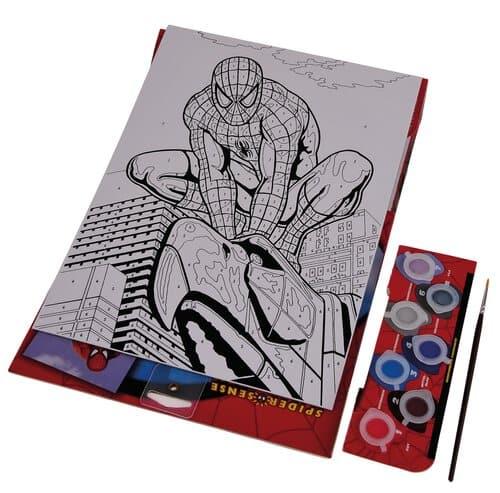Malen Nach Zahlen Acryl Spiderman 23 X 30 Cm Opitec
