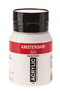 Amsterdam Acrylfarbe 500 ml, titanweiß