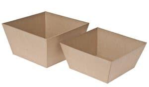 Coupes carrées en carton, A poser, di...,