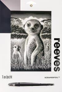 Image à gratter Reeves, suricates argenté