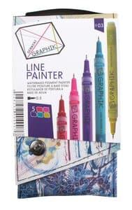 DERWENT GRAPHIK Line Painter set 03, 5 stuks