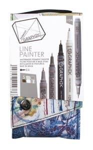DERWENT GRAPHIK Line Painter set 04, 5 stuks