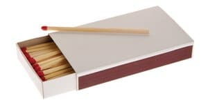 Open haard lucifers (9,5 cm) 45 stuks in doosje