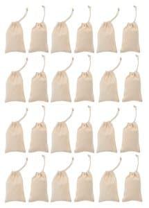 Bolsas de algodón (100 x 150 mm) 24 ud.