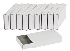 Boîtes d'allumettes en carton, 10 pièces