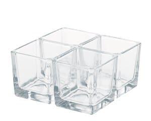 Glaswürfel, 4 Stück (60 x 60 x 60 mm)