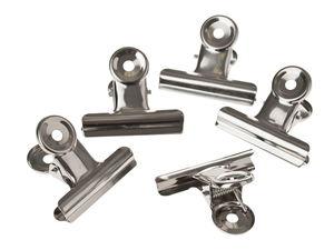 Pinces clip, Argenté, 5 pièces, 50 mm