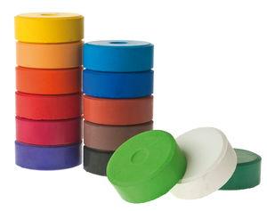 Farbtabletten, 14 Farben sortiert     (55 x 19 mm)
