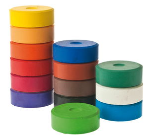 Farbtabletten, 14 Farben sortiert     (44 x 16 mm)