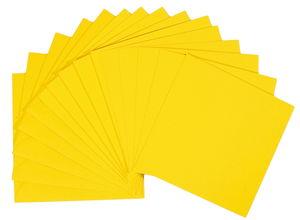 Dubbele kaarten (13,5 x 13,5 cm) 5 stuks, geel