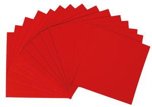 Tarjetas dobles, 5 ud, rojo (13,5 x 13,5 cm)