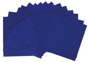 Dubbele kaarten - vierkant, 5 stuks, blauw