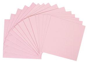 Dubbele kaarten - vierkant, 5 stuks, roze