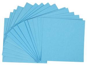 Dubbele kaarten - vierkant, 5 stuks, l.blauw