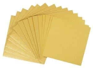 Dubbele kaarten - vierkant, 5 stuks, goud/geel