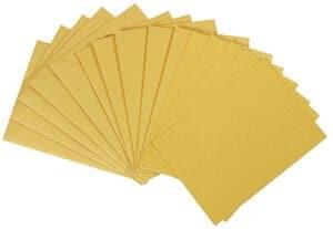 Dubbele kaarten A6 5 stuks, goud