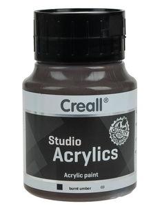Creall acrylverf omber gebrand, 500 ml