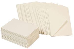 Kartenset, 50 Stück perlweiß (10,5 x 15 cm)