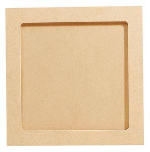 Cadre ou dessous de plat carré en bois,