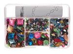 Caja de piedras de bisutería multicolor, 1000 ud.