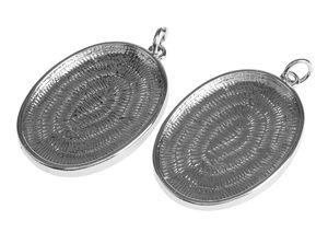 Ciondoli metallici con castone, 2 pz ovali (38mm)
