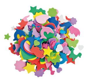 Moosgummi-Figuren, 250 Stück bunt