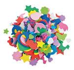 Foam figuren, kleurrijk, 250 stuks