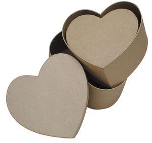 Boîtes en carton -Coeur-, Avec couver...,