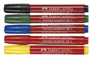 FABER-CASTELL Stoffmalstifte, 5er Set